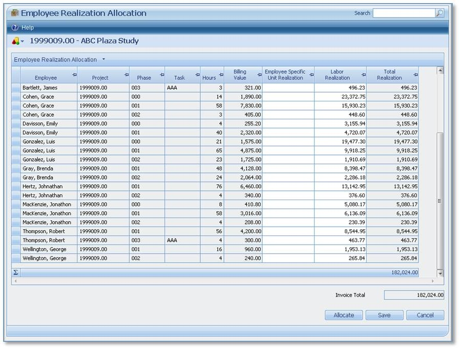 invoice timesheet