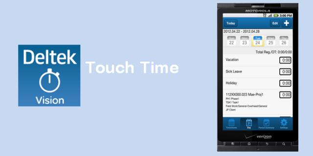 Deltek Vision Touch Time