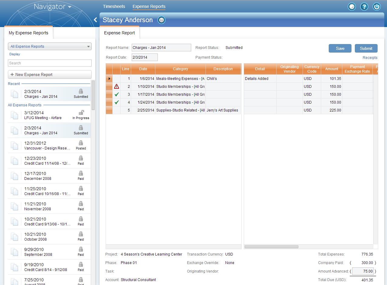 expense reports made easy with vision navigator deltek vision blog